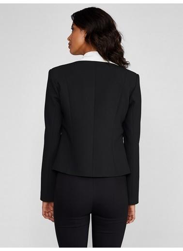 Vekem-Limited Edition Püskül Detaylı Asimetrik Kesim Ceket Siyah